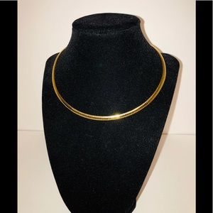 Jewelry - Gold Omega Collar Necklace 16""